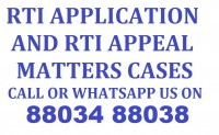 RTI Application and Appeal Services Call 88034 88038