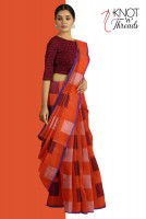 Indian Traditional Cotton sarees, Fancy Cotton Silk Sarees Online Shopping at Knotnthreads