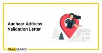 Aadhar Address Validation Letter