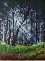 Forest Sunrise Painting by Almeve.com