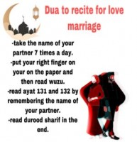 we recite for love marriage