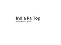 Best Companies of India - India Ka Top
